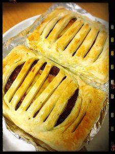チーズハンバーグパイ☆
