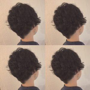 黒髪☆ショートパーマ風スタイル