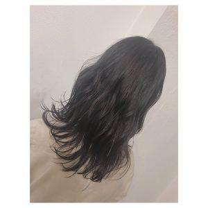 夏の暗髪カラー☆