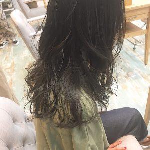 *暗髪透明感カラー*