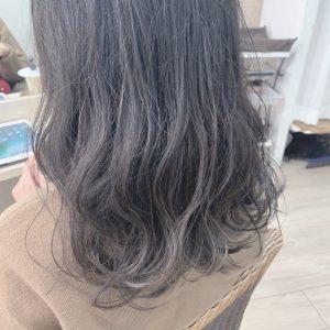 *冬カラー☆透明感グレージュカラー*