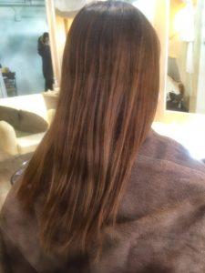 明るくなった毛先活かして♪。