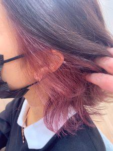 *秋カラー☆ショコラブラウン×ピンクインナーカラー*